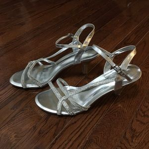 Call it Spring strappy silver sandal